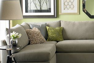 Contemporary Living Room with LoveSac Black and White Branches Framed Wall Art, Hardwood floors, Paint, Standard height