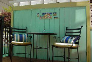 Eclectic Porch with Wrap around porch, Trellis