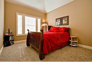 Traditional Guest Bedroom with Standard height, Casement, Carpet