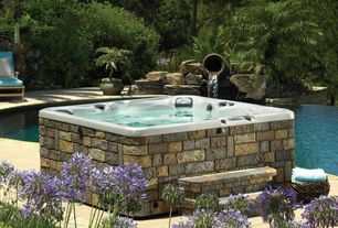 Traditional Hot Tub with Fountain, Pool with hot tub, Jacuzzi