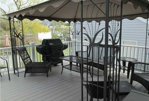 Traditional Deck with Gazebo, Outdoor kitchen