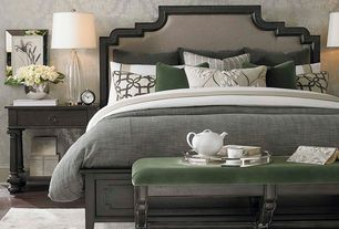 Traditional Master Bedroom with Bassett Emporium Bedside Table, Bassett Emporium Bench, Basset Emporium Upholstered Bed