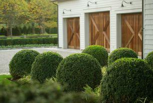 Traditional Landscape/Yard with Custom wood garage door