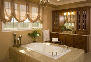Traditional Master Bathroom with Simple granite counters, Minka lavery jessica mcclintock home 4 light mini chandelier