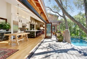 Contemporary Deck with Vaulted ceiling, Indoor/outdoor living, Ralston avenue residence, Gadsden overhead lamp, Pathway, Pool