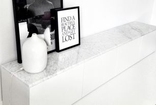 Modern Living Room with Gst stone white bianco carrara marble tile 24x24 polished, Typography Art Quote Print