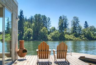 Rustic Deck with Chiminea, Adirondack chair