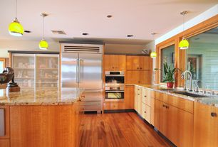 Modern Kitchen with Kitchen island, L-shaped, Inset cabinets, Sub-Zero 648PRO, Complex granite counters, European Cabinets