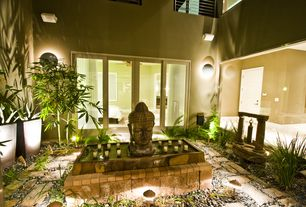 Asian Landscape/Yard with Focus Industries Focus Lighting - LED Brass Line Voltage Accent Lighting Fixture, Raised beds