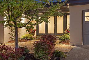 Traditional Front Door with Pathway, French doors, exterior tile floors, exterior concrete tile floors