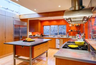 Contemporary Kitchen with Flush, Fisher & Paykel Double Dishwasher Drawer, European Cabinets, Casement, flush light, Skylight