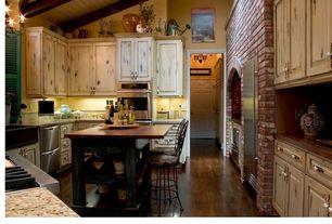 Eclectic Kitchen with Breakfast bar, Exposed beam, Kitchen island, Jasper Hardwood - Handscraped Oak Collection Malt