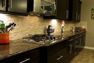 Contemporary Kitchen with Limestone Tile, slate tile floors, Flush, One-wall, Stone Tile, Marble.com Ubatuba Granite