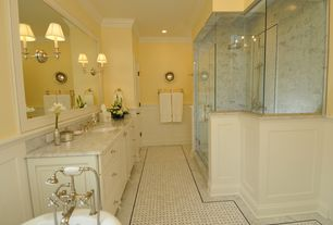 Traditional Master Bathroom with Shades of Light Millennium Sconce- 1 Light, Handheld showerhead, Master bathroom