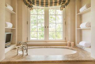Traditional Master Bathroom with High ceiling, Master bathroom, Ms international emperador light marble