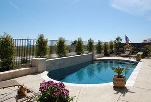 Modern Swimming Pool with Other Pool Type, exterior tile floors, Fence, exterior concrete tile floors