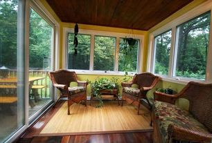 Eclectic Porch with Wood panel ceiling, Screened porch, Lr resources shiro lr02374 natural area rug