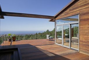 Contemporary Deck with Transom window