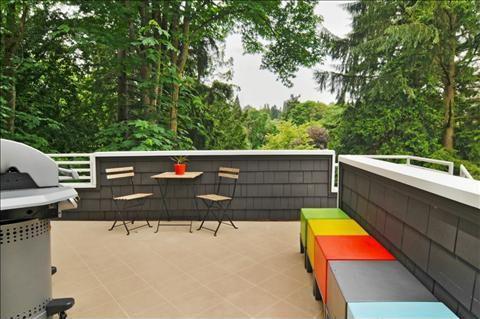 Contemporary Deck with Deck Railing, exterior terracotta tile floors, exterior tile floors