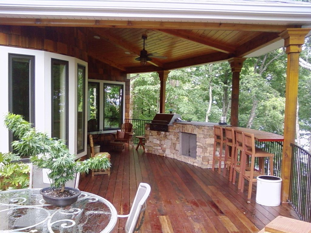 Rustic Deck with Paint 1