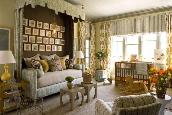 Contemporary Kids Bedroom with Flat panel roman shades, Smith & noble flat roman fabric shades, Kay Bojesen Rocking Horse