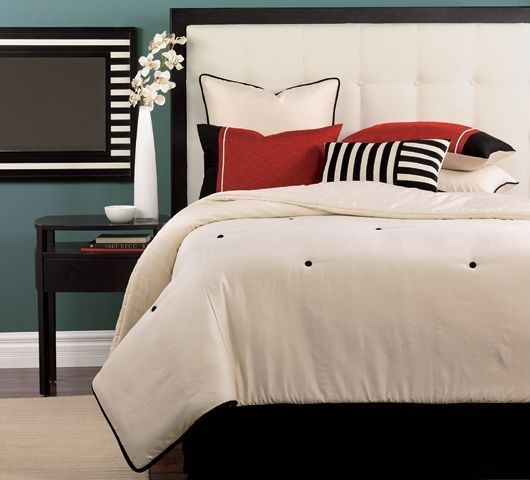 Contemporary Master Bedroom with Paint, Dania - pasadena nightstand-venge, Target - dorel tufted headboard