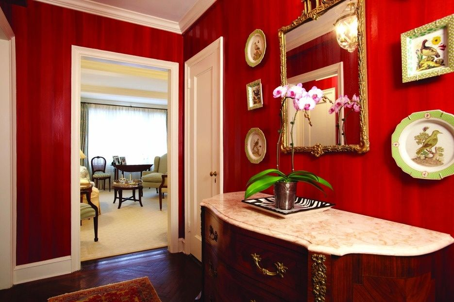 Traditional Hallway with Hardwood floors, Crown molding
