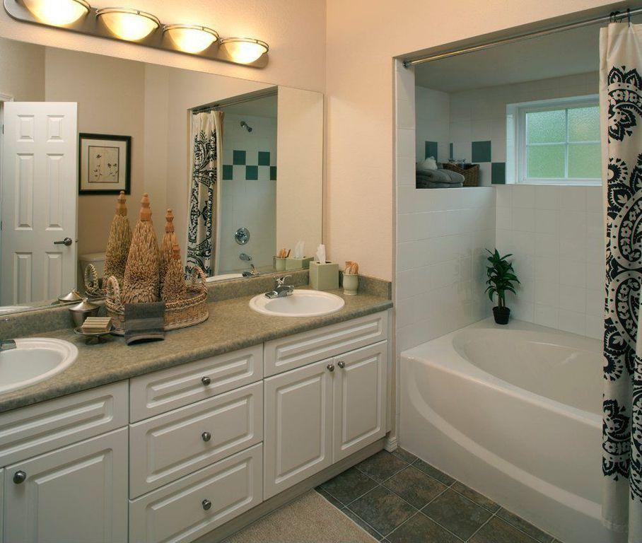 Traditional Master Bathroom with full backsplash, Standard height, Raised panel, Simple Granite, Master bathroom, Shower