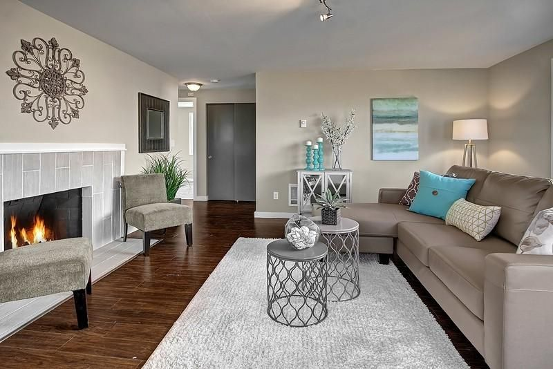 Contemporary Living Room With Hardwood Floors By Stacey