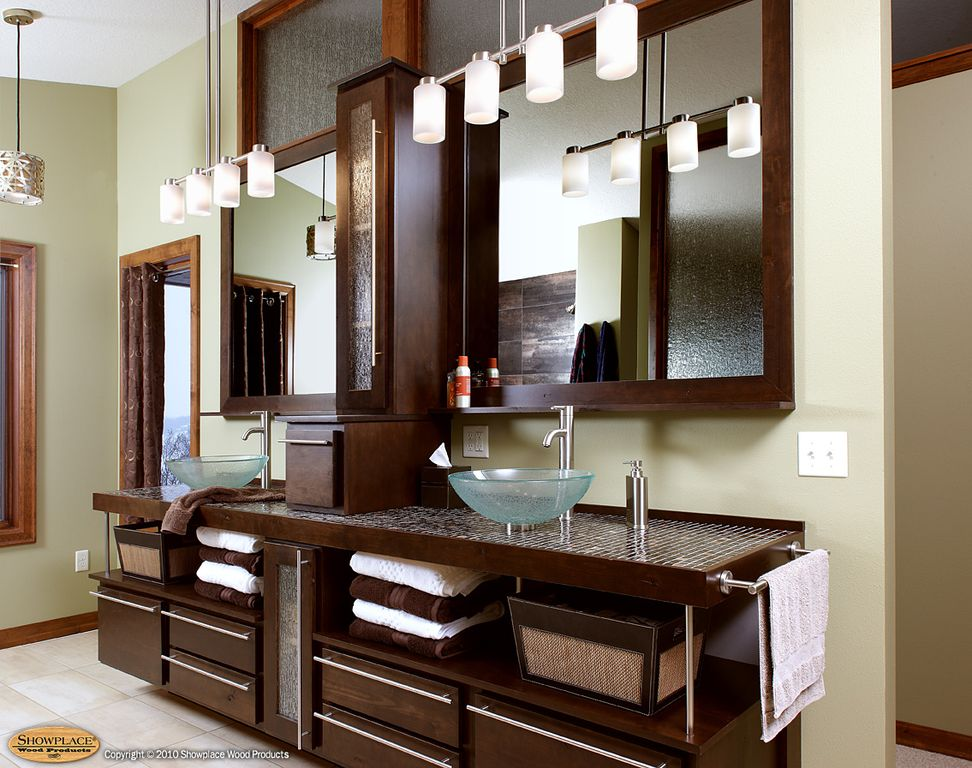 Contemporary Master Bathroom with Pendant light, Master bathroom, Flush, limestone tile floors, Glass panel, Vessel sink