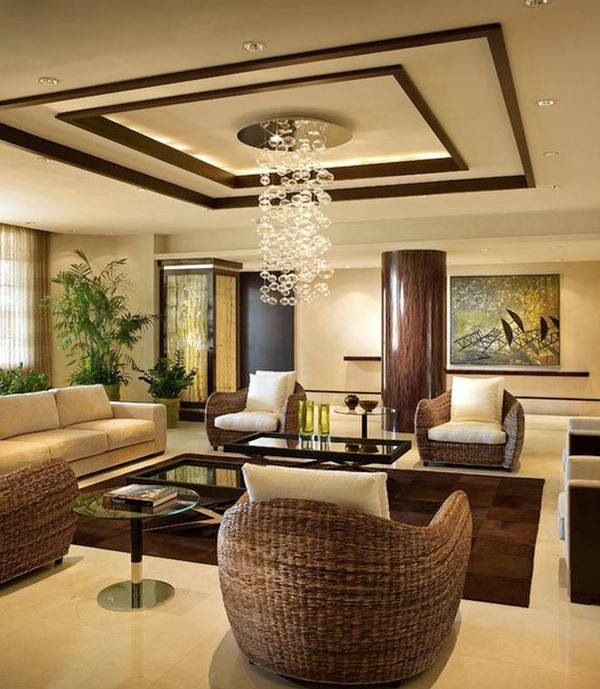 Contemporary Living Room with can lights, Chandelier, Paint 1, picture window, Standard height, Concrete tile , Columns