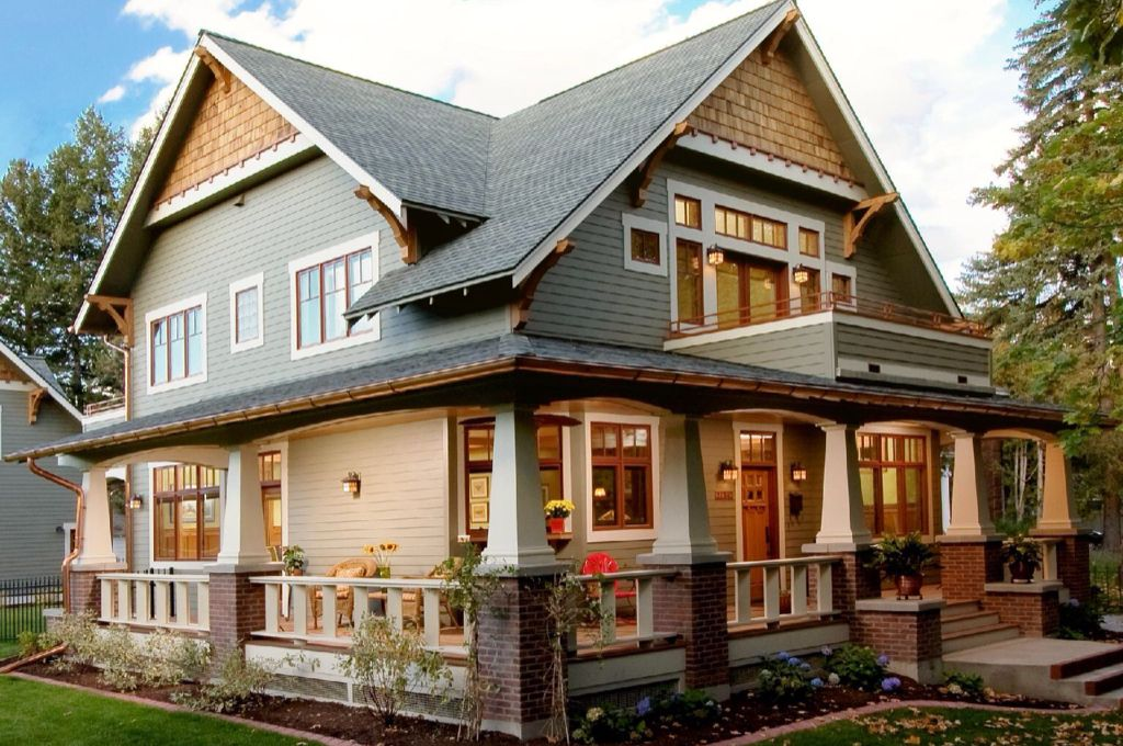 Craftsman Exterior Of Home With Transom Window Exterior