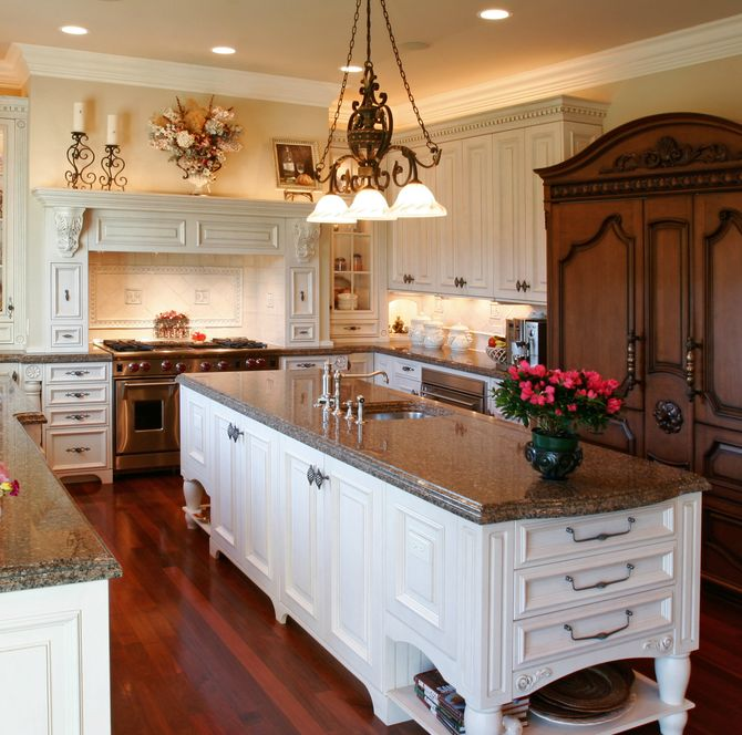 Traditional Kitchen With Crown Molding By Home