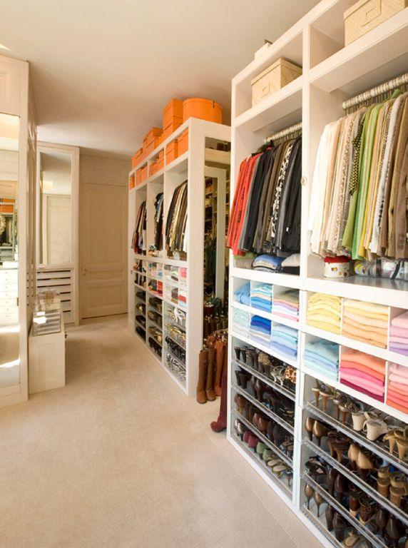Traditional Closet with Carpet, six panel door, Standard height, Built-in bookshelf, Custom closet storage