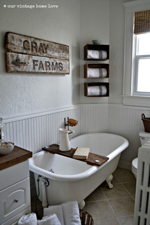 Cottage 3/4 Bathroom with double-hung window, Textured wall finish, Raised panel, Paint 1, linen and towel storage cabinet