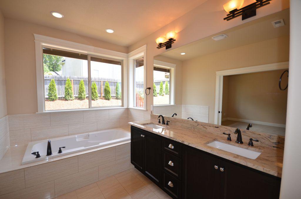 Traditional Master Bathroom with MS International Sophie White Porcelain Tile, Undermount sink, Master bathroom, Flush