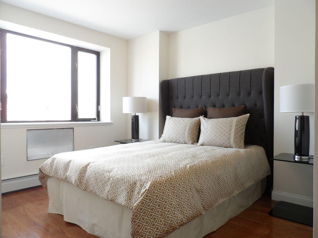 Traditional Master Bedroom with Standard height, Casement, Hardwood floors