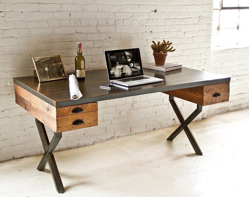 Rustic Home Office with Paint