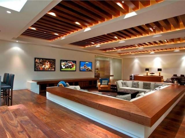Contemporary Living Room With Exposed Beam Hardwood Floors In Laguna Be