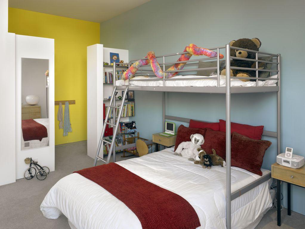 Modern Kids Bedroom with Carpet