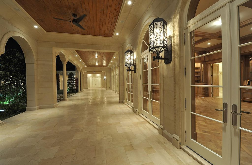 Mediterranean Porch With French Doors amp Exterior Tile