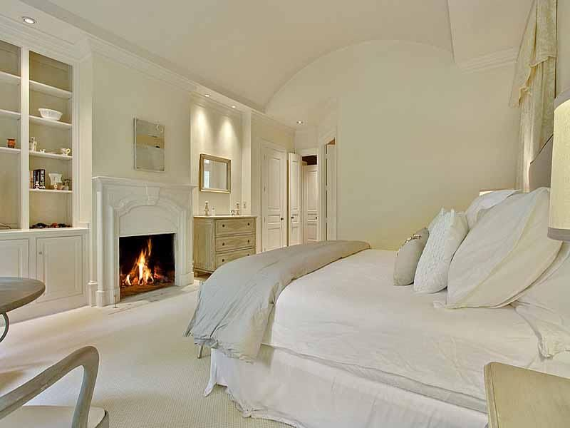 Traditional Master Bedroom with Crown molding, Standard height, Paint 1, Somerset bay marblehead chest, can lights, Fireplace