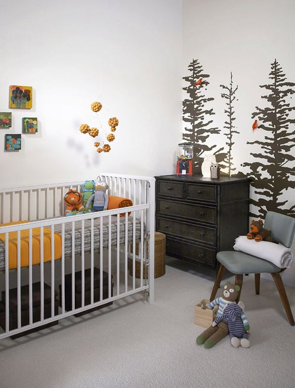 Contemporary Kids Bedroom with Standard height, no bedroom feature, Mural, Carpet