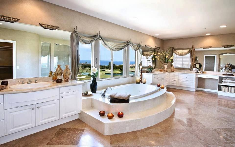 Traditional Master Bathroom with Flush, Duetta 6642 jacuzzi tub, Chameleon stone walnut travertine, Chameleon stone limestone
