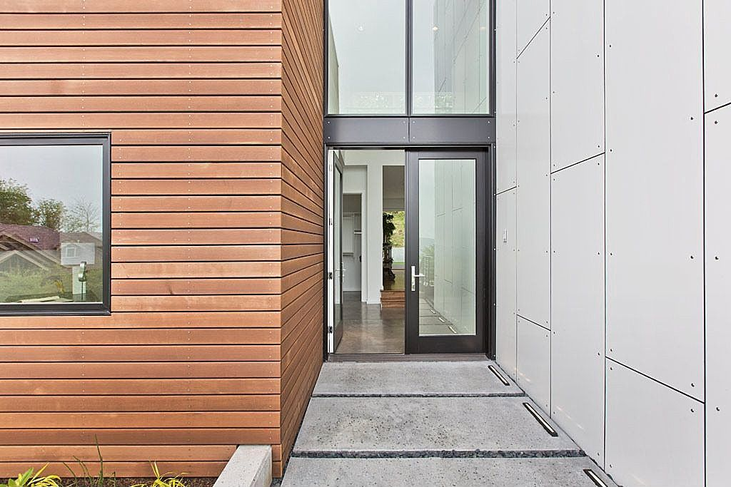 Great modern front door zillow digs - Modern exterior double doors ...