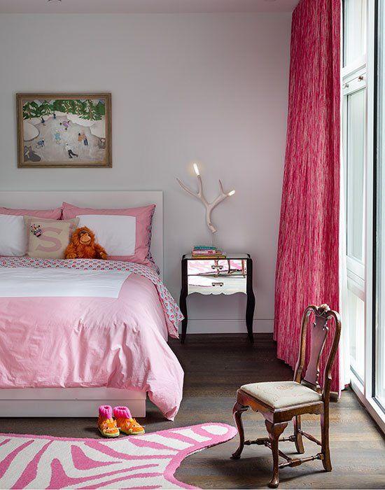 Contemporary Kids Bedroom with Hardwood floors, picture window, Standard height, no bedroom feature, specialty window