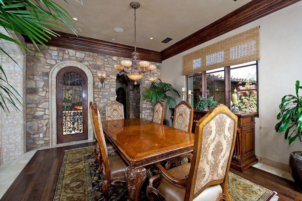 Rustic Living Room with stone tile floors, Maxim oil rubbed bronze nova 7-light 2-tier empire chandelier, Chandelier, Paint 1