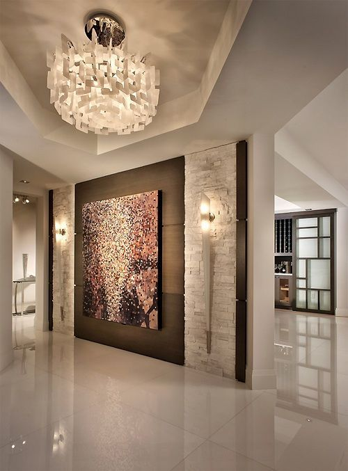 Height Of Wall Sconces In Hallway : Great Contemporary Hallway - Zillow Digs