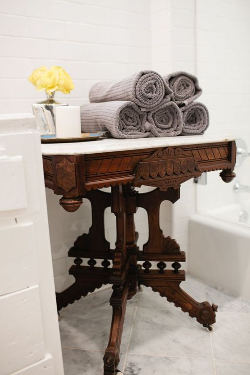 Traditional Master Bathroom with Complex marble counters, Standard height, Wall Tiles, stone tile floors, Master bathroom