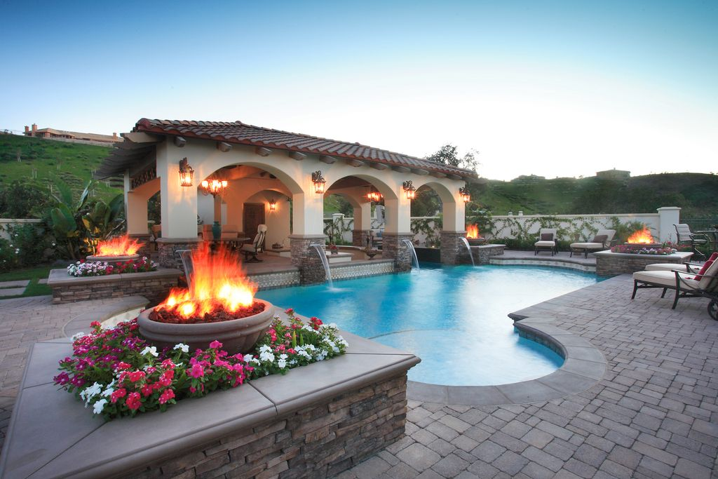 Great mediterranean swimming pool zillow digs for Pool exterior design